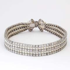 Antique Natural Pearl and Diamond Bow Bracelet - 325463