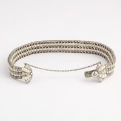 Antique Natural Pearl and Diamond Bow Bracelet - 325464
