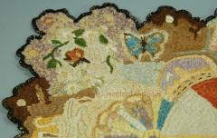 Antique Needlework Table Mat or Rug Circa 1820 - 1392502