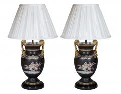 Antique Pair of Greek Revival Table Lamps 19th Century - 1179641