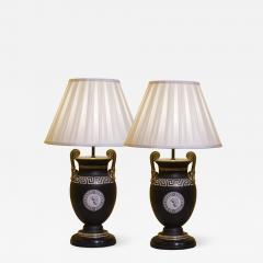 Antique Pair of Greek Revival Table Lamps 19th Century - 1179790