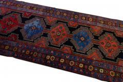 Antique Persian Malayer Handmade Tribal Blue Long Wool Runner - 2139699