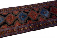 Antique Persian Malayer Handmade Tribal Blue Long Wool Runner - 2139700