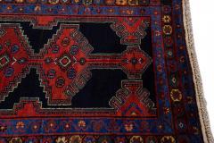 Antique Persian Malayer Handmade Tribal Blue Long Wool Runner - 2139701