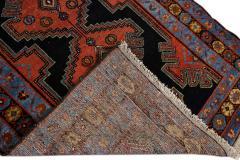 Antique Persian Malayer Handmade Tribal Blue Long Wool Runner - 2139706