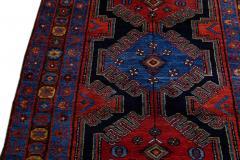 Antique Persian Malayer Handmade Tribal Blue Long Wool Runner - 2139707