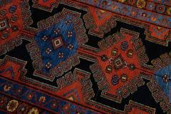 Antique Persian Malayer Handmade Tribal Blue Long Wool Runner - 2139708