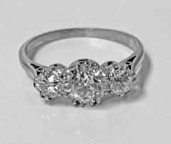 Antique Platinum Diamond Ring circa 1920 - 1819494