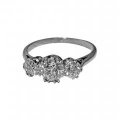 Antique Platinum Diamond Ring circa 1920 - 1819696