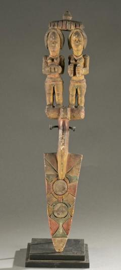 Antique Polychrome Wood Carving Igbo Nigeria - 1231409