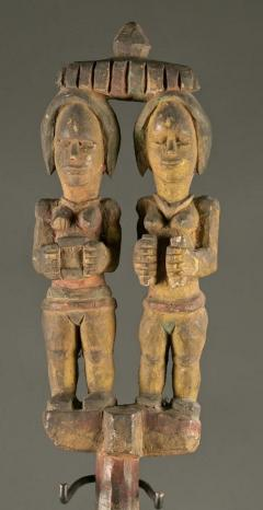 Antique Polychrome Wood Carving Igbo Nigeria - 1231412