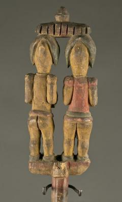 Antique Polychrome Wood Carving Igbo Nigeria - 1231413