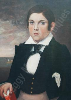 Antique Portrait of Young Mariner - 1392537