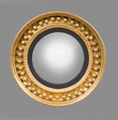 Antique Regency Period Giltwood Convex Mirror - 778131