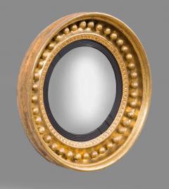 Antique Regency Period Giltwood Convex Mirror - 778132