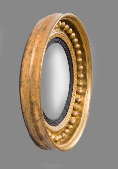 Antique Regency Period Giltwood Convex Mirror - 778133
