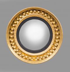Antique Regency Period Giltwood Convex Mirror - 778134
