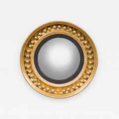 Antique Regency Period Giltwood Convex Mirror - 843812