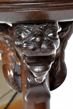 Antique Renaissance Revival Walnut Pedestal Stand France 19th Century - 1237923