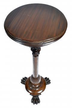 Antique Renaissance Revival Walnut Pedestal Stand France 19th Century - 1237926