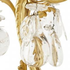Antique Rococo style ormolu and cut glass twelve light chandelier - 2013562