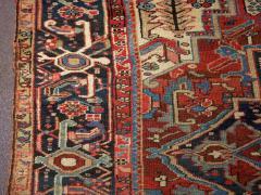 Antique Room Size Heriz Rug w Serapi Colors circa 1910 8 75 x 11 3 - 1164881
