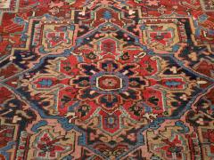 Antique Room Size Heriz Rug w Serapi Colors circa 1910 8 75 x 11 3 - 1164887