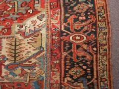 Antique Room Size Heriz Rug w Serapi Colors circa 1910 8 75 x 11 3 - 1164889