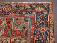 Antique Room Size Heriz Rug w Serapi Colors circa 1910 8 75 x 11 3 - 1164897