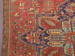 Antique Room Size Heriz Rug with Serapi Blue Colors circa 1910 12 x 6 5 - 1091526