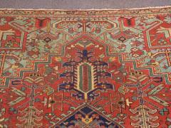 Antique Room Size Heriz Rug with Serapi Blue Colors circa 1910 12 x 6 5 - 1091527
