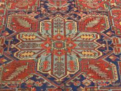 Antique Room Size Heriz Rug with Serapi Blue Colors circa 1910 12 x 6 5 - 1091529