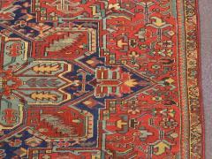 Antique Room Size Heriz Rug with Serapi Blue Colors circa 1910 12 x 6 5 - 1091530