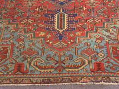 Antique Room Size Heriz Rug with Serapi Blue Colors circa 1910 12 x 6 5 - 1091532