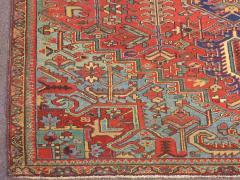 Antique Room Size Heriz Rug with Serapi Blue Colors circa 1910 12 x 6 5 - 1091533