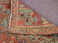 Antique Room Size Heriz Rug with Serapi Blue Colors circa 1910 12 x 6 5 - 1091534