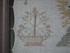 Antique Sampler 1784 Double Sided European  - 1766281