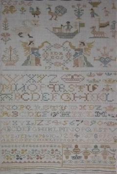 Antique Sampler 1784 Double Sided European  - 1766328