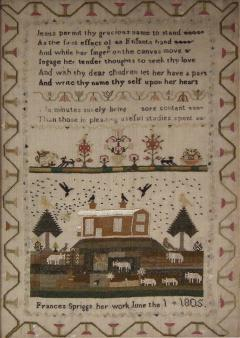 Antique Sampler 1805 by Frances Spriggs - 1745972