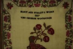 Antique Sampler 1837 Woodcock by Mary Staley - 1745683