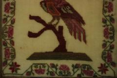 Antique Sampler 1837 Woodcock by Mary Staley - 1745685