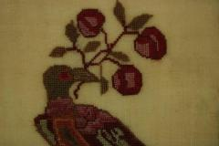 Antique Sampler 1837 Woodcock by Mary Staley - 1745691