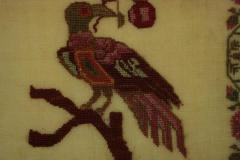 Antique Sampler 1837 Woodcock by Mary Staley - 1745693
