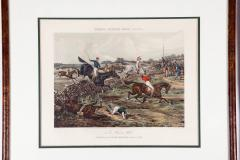 Antique Set of Four Hand Colored Lithographs Forests Steeple Chase - 1038184