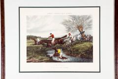Antique Set of Four Hand Colored Lithographs Forests Steeple Chase - 1038192