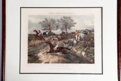 Antique Set of Four Hand Colored Lithographs Forests Steeple Chase - 1038201