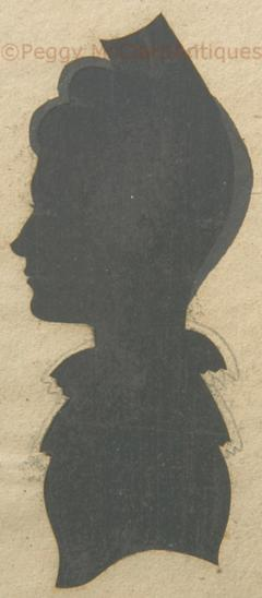 Antique Silhouette Woman - 1392572