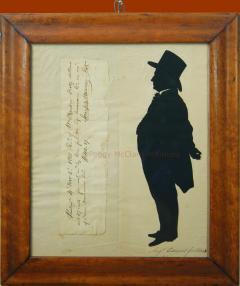 Antique Silhouette by Augustin Edouart of Joseph Warner Philadelphia Quaker - 1392559