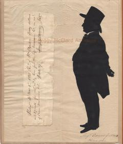Antique Silhouette by Augustin Edouart of Joseph Warner Philadelphia Quaker - 1392564