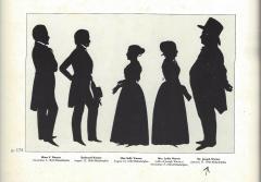 Antique Silhouette by Augustin Edouart of Joseph Warner Philadelphia Quaker - 1392566